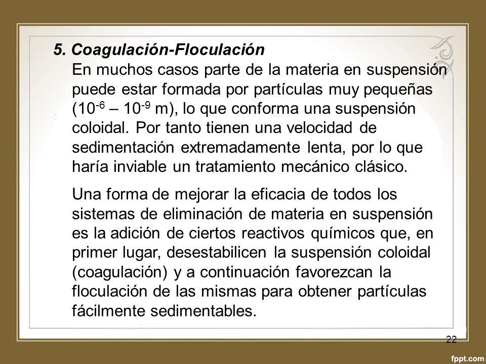 5. Coagulación-Floculación