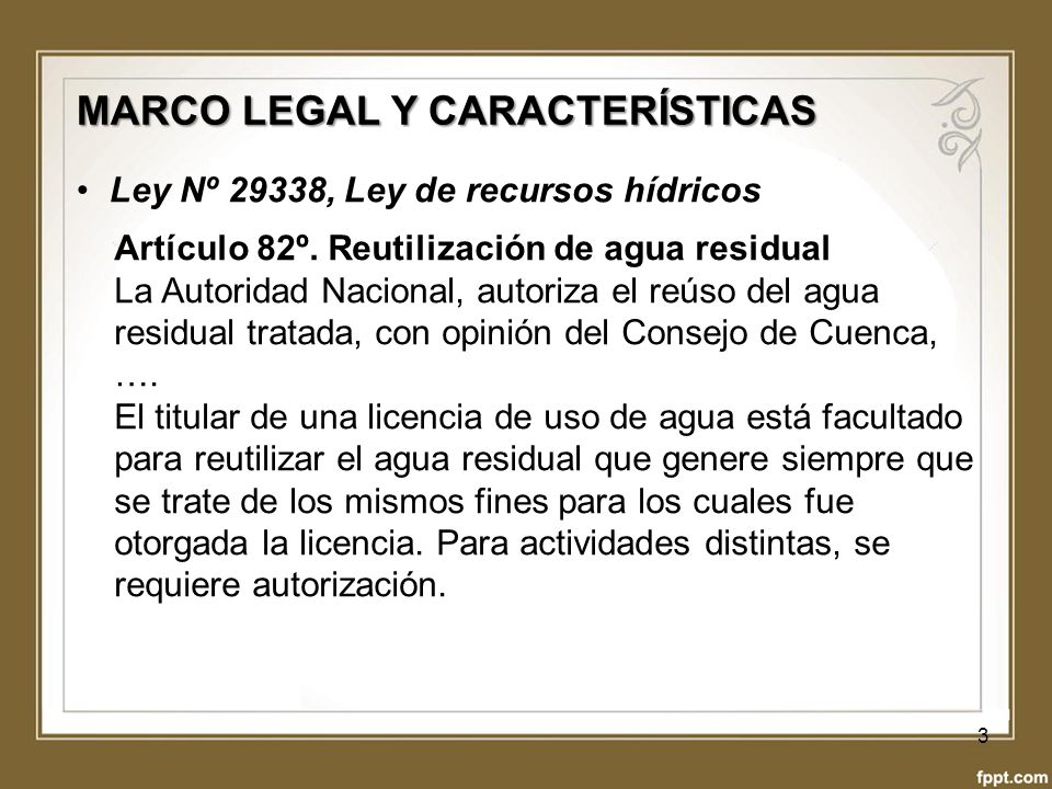 MARCO LEGAL Y CARACTERÍSTICAS
