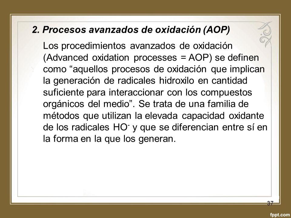 2. Procesos avanzados de oxidación (AOP)