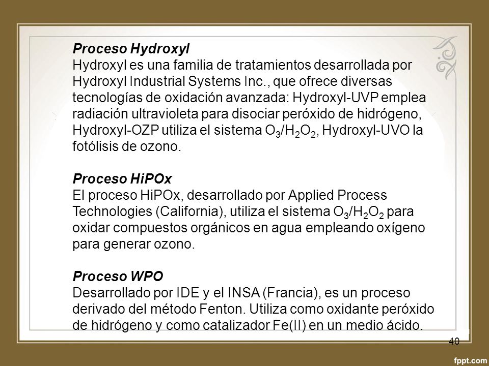 Proceso Hydroxyl