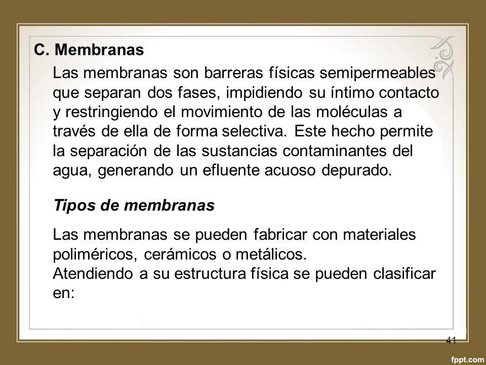 C. Membranas