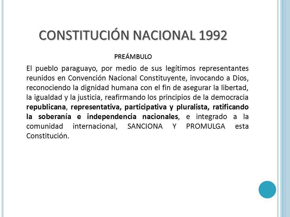 CONSTITUCIÓN NACIONAL 1992