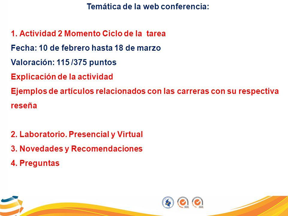 Temática de la web conferencia: