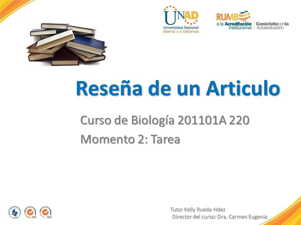 Curso de Biología 201101A 220 Momento 2: Tarea