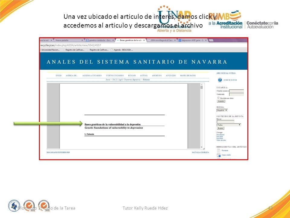 Una vez ubicado el articulo de interés, damos click y accedemos al articulo y descargamos el archivo