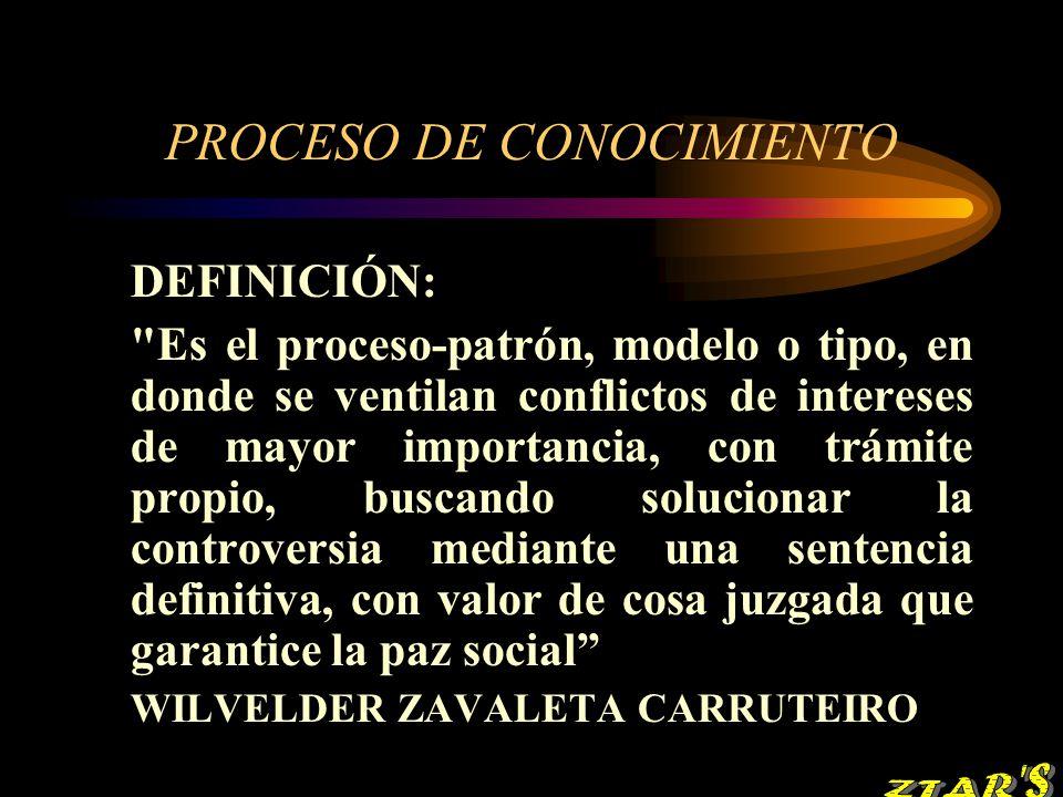 PROCESO DE CONOCIMIENTO