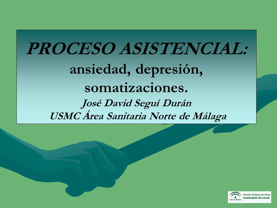 PROCESO ASISTENCIAL: ansiedad, depresión, somatizaciones
