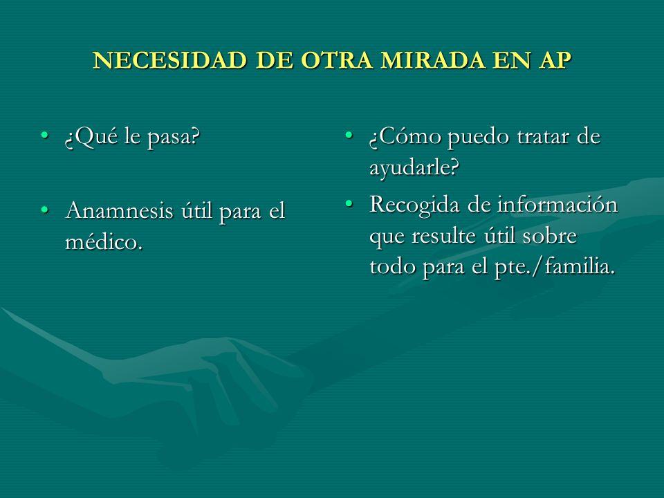 NECESIDAD DE OTRA MIRADA EN AP