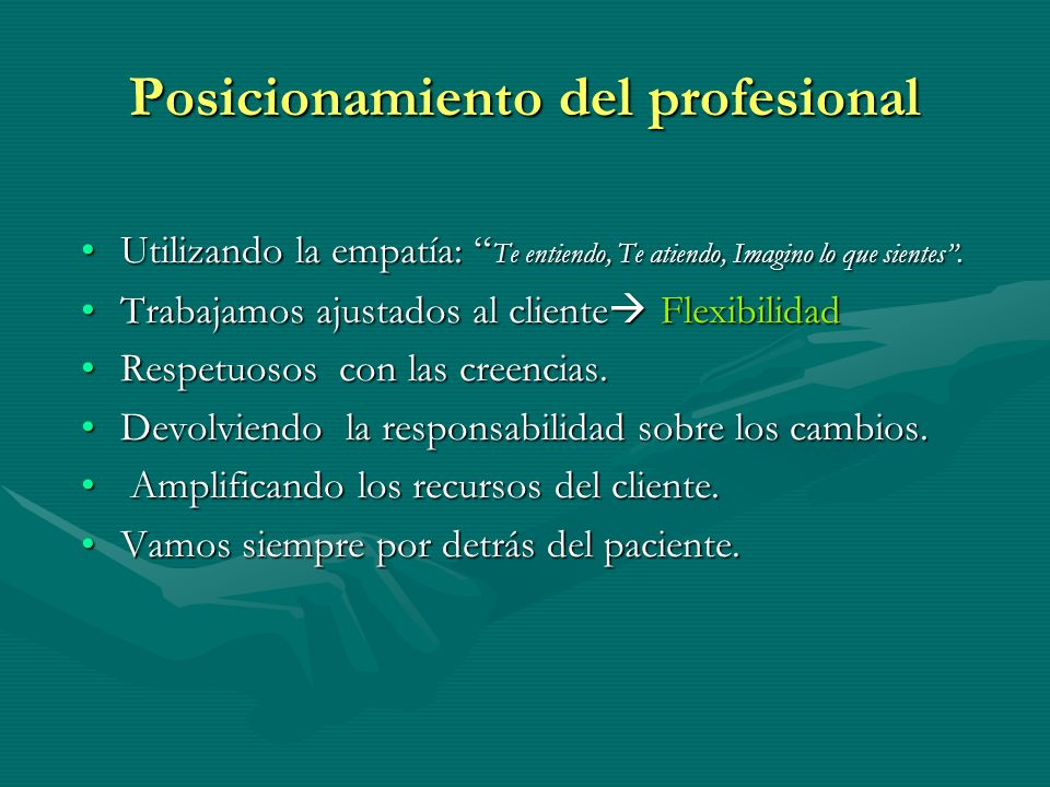 Posicionamiento del profesional