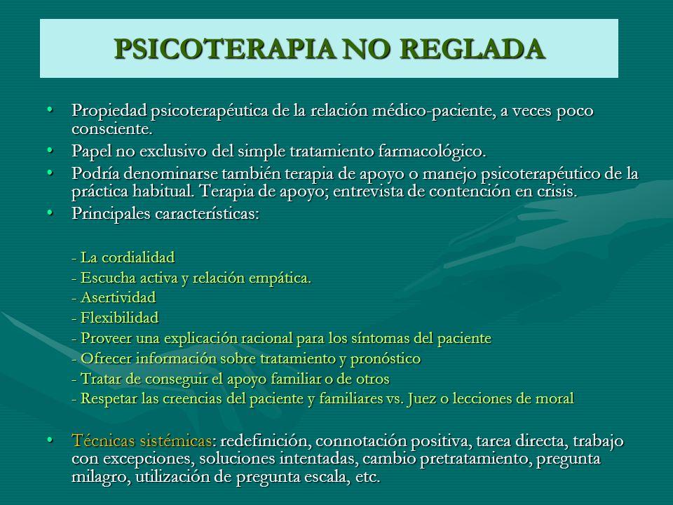 PSICOTERAPIA NO REGLADA