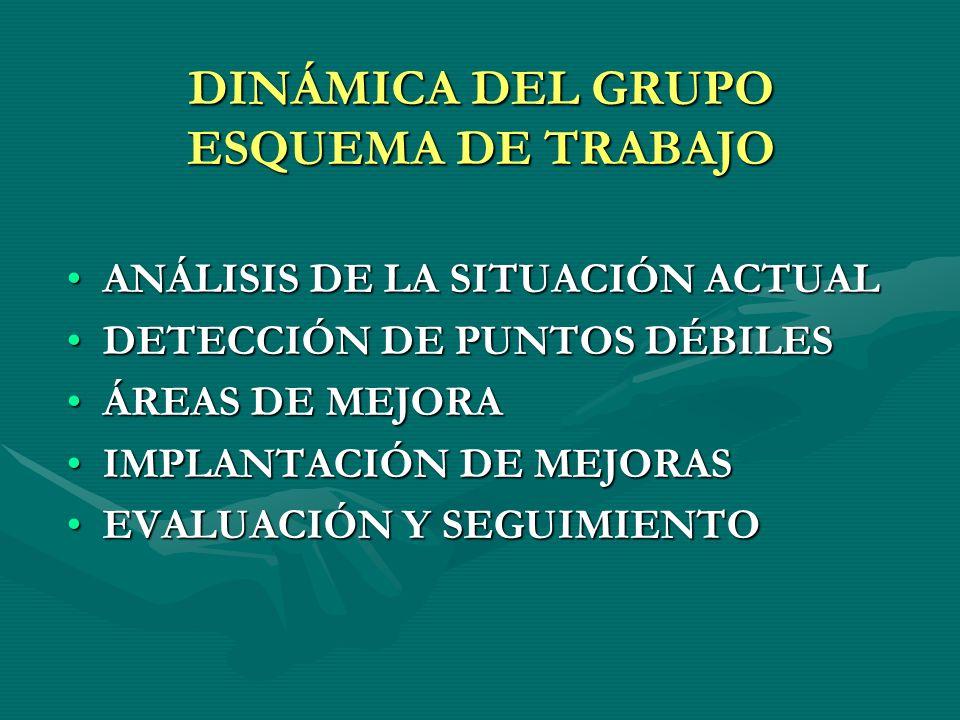DINÁMICA DEL GRUPO ESQUEMA DE TRABAJO
