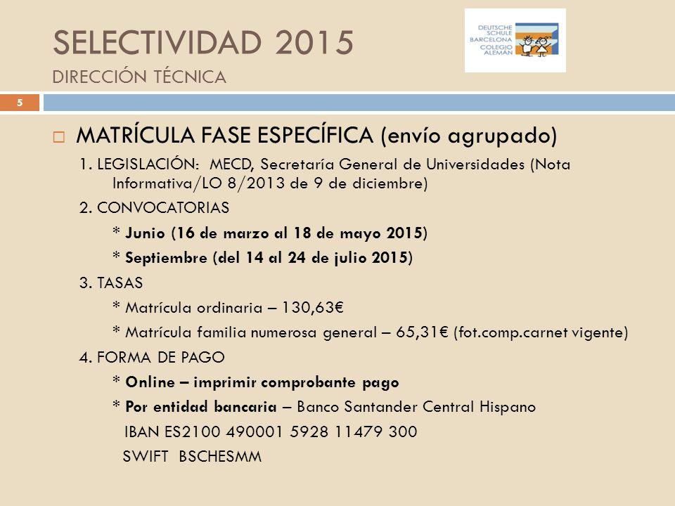 Selectividad 2015 direcci n t cnica ppt descargar - Pisos santander central hispano ...