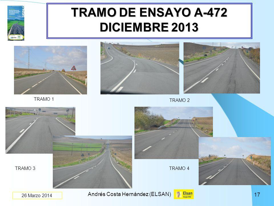 TRAMO DE ENSAYO A-472 DICIEMBRE 2013
