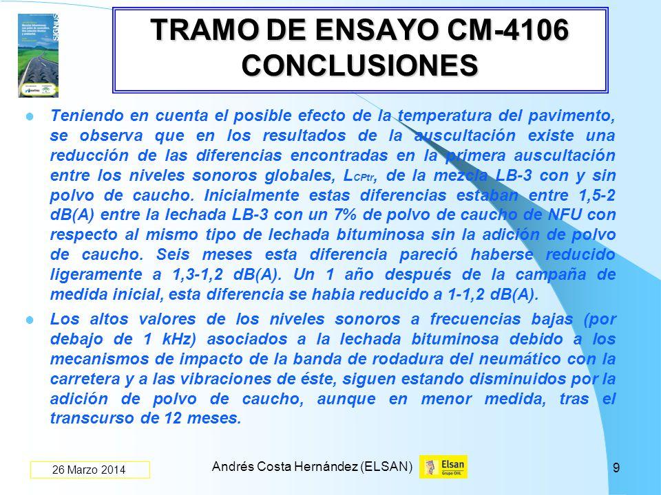 TRAMO DE ENSAYO CM-4106 CONCLUSIONES