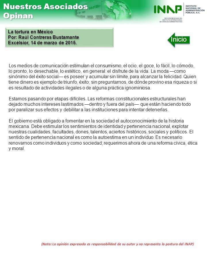 Nuestros Asociados Opinan Inicio La tortura en México