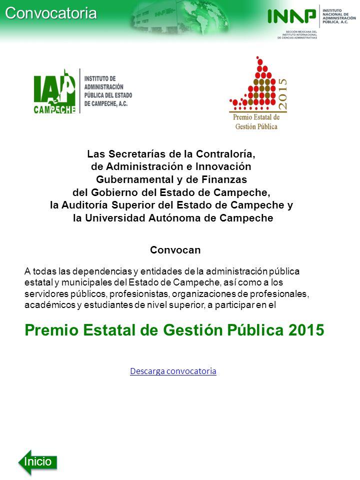 Premio Estatal de Gestión Pública 2015