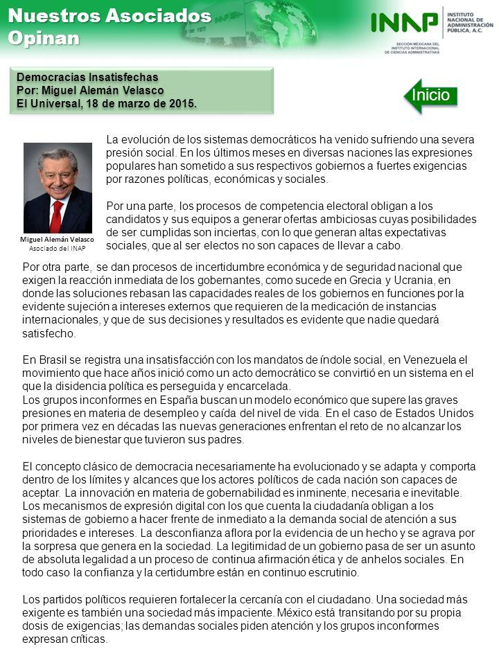 Miguel Alemán Velasco Asociado del INAP