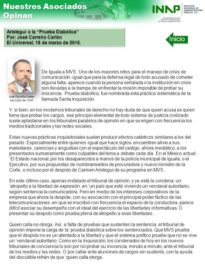 José Carreño Carlon Asociado del INAP