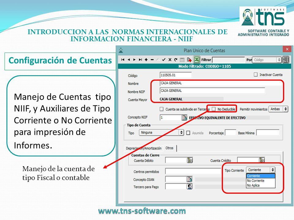 Configuración de Cuentas