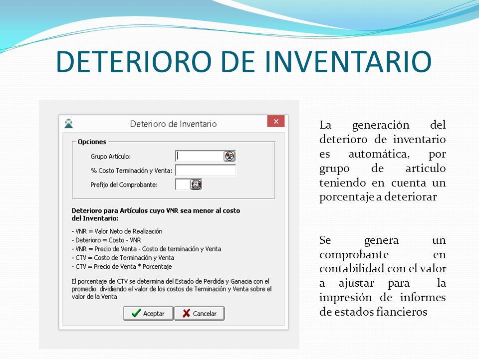 DETERIORO DE INVENTARIO