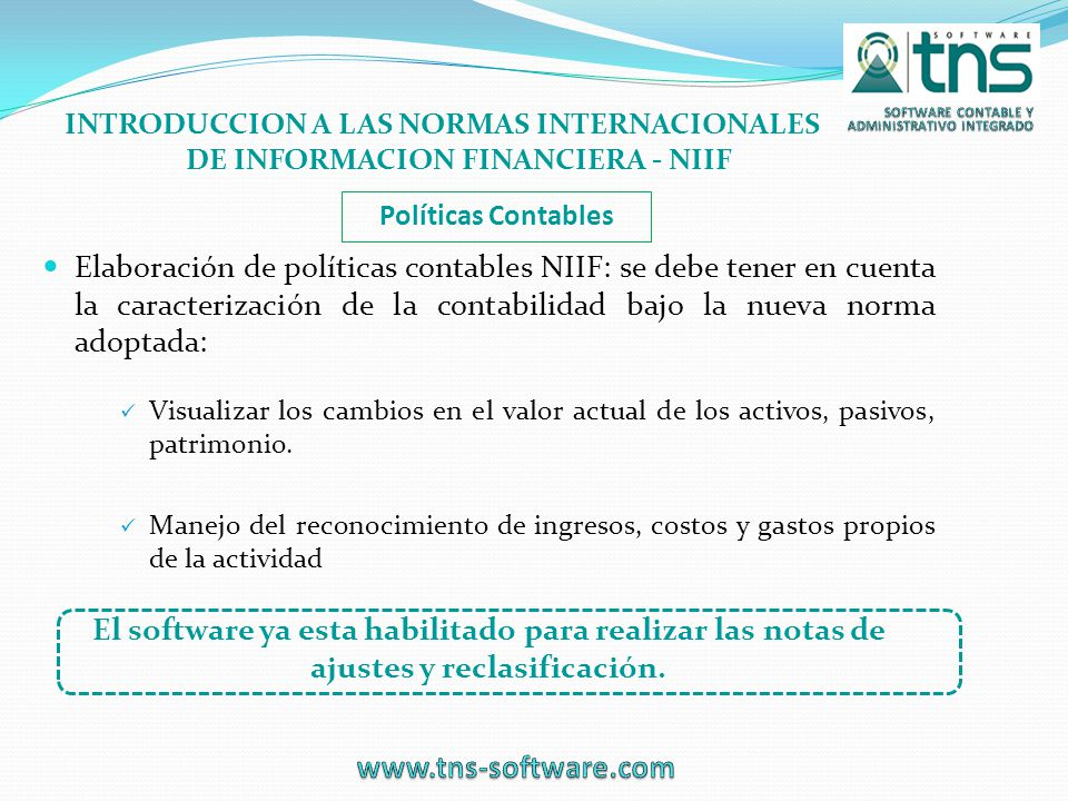 INTRODUCCION A LAS NORMAS INTERNACIONALES DE INFORMACION FINANCIERA - NIIF