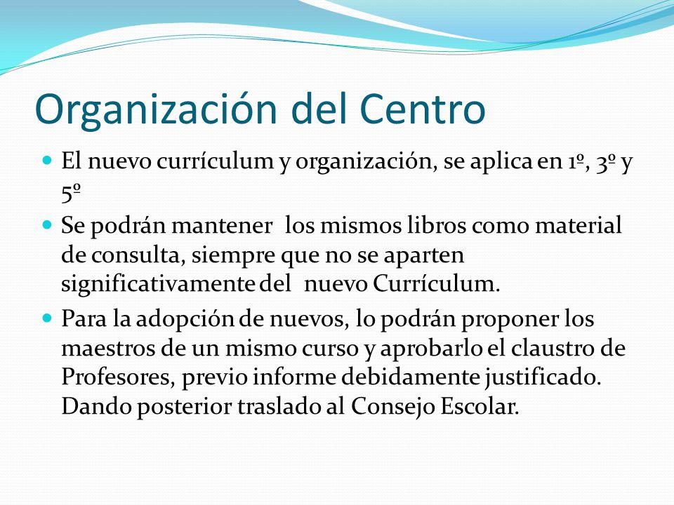 Organización del Centro