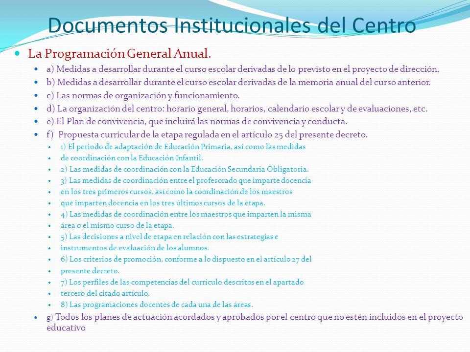 Documentos Institucionales del Centro