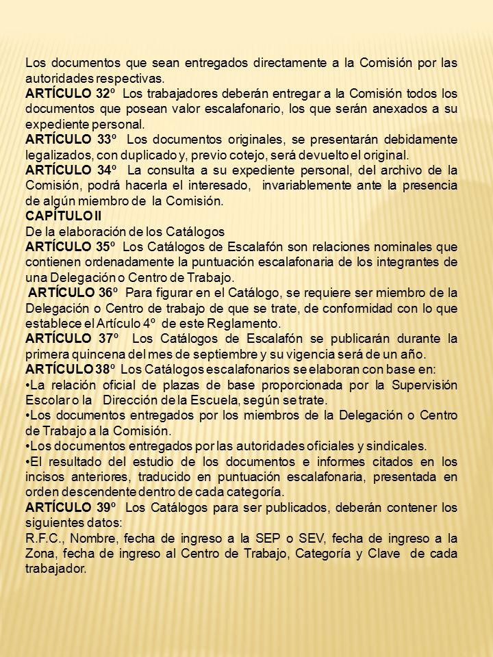 Los documentos que sean entregados directamente a la Comisión por las autoridades respectivas.