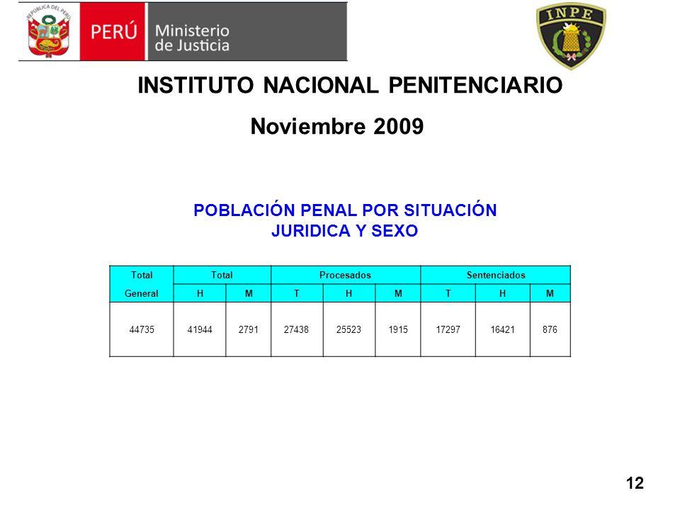 INSTITUTO NACIONAL PENITENCIARIO Noviembre 2009