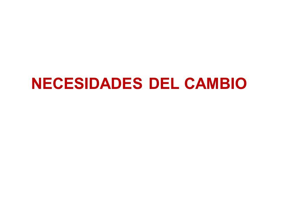 NECESIDADES DEL CAMBIO
