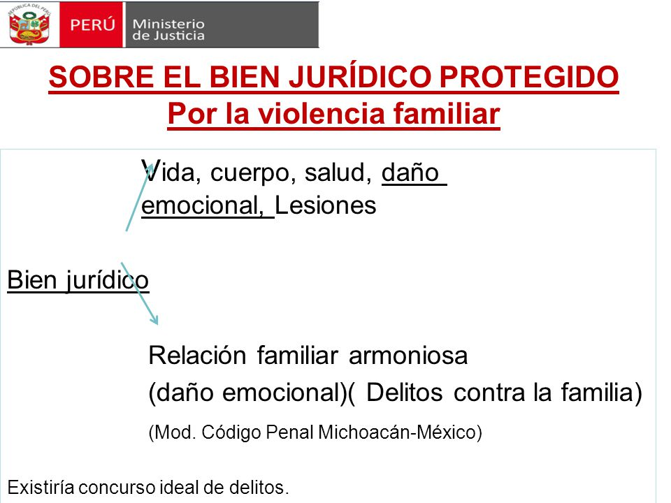 SOBRE EL BIEN JURÍDICO PROTEGIDO Por la violencia familiar