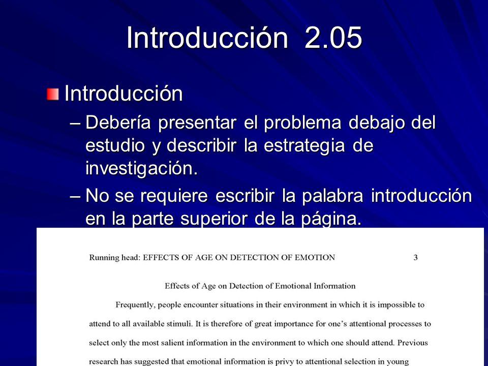 Introducción 2.05 Introducción