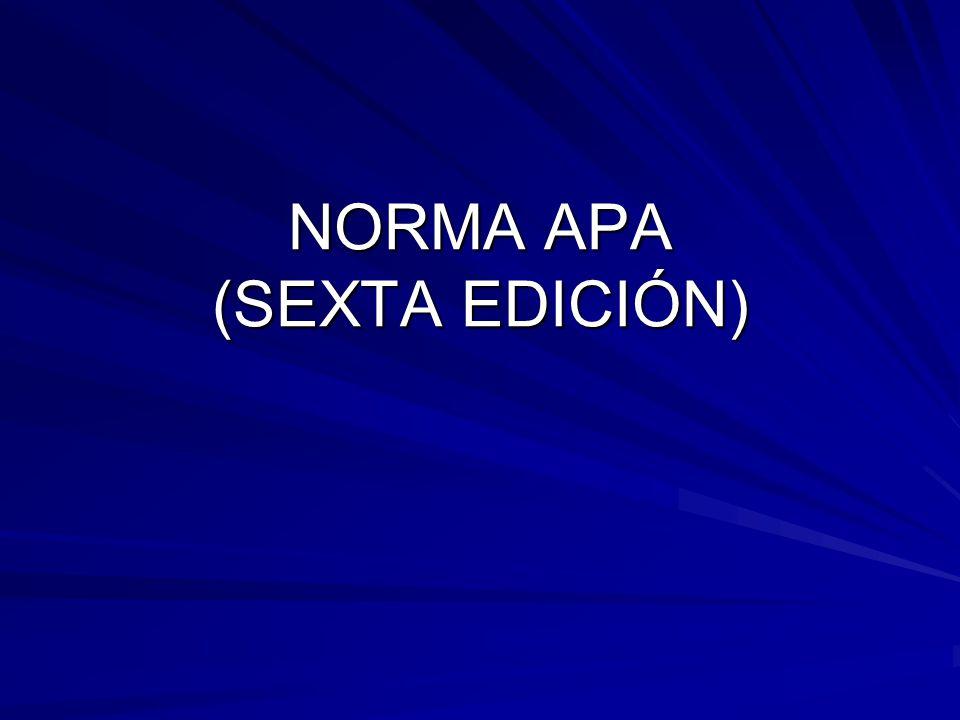 NORMA APA (SEXTA EDICIÓN)