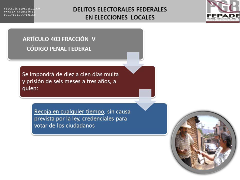 DELITOS ELECTORALES FEDERALES