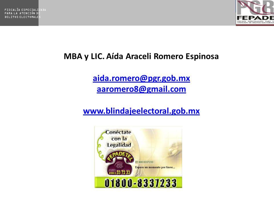 MBA y LIC. Aída Araceli Romero Espinosa