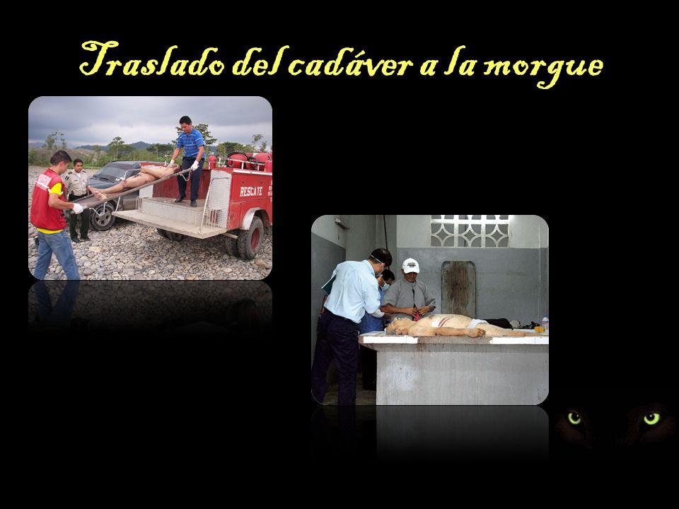 Traslado del cadáver a la morgue
