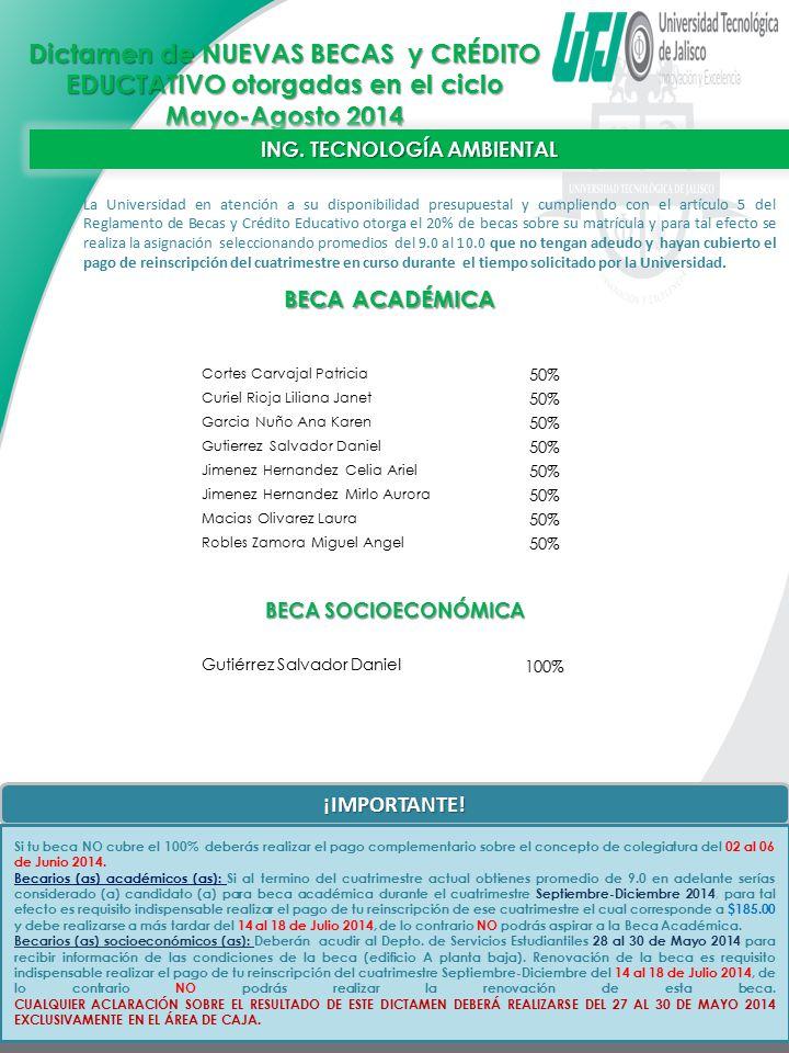 ING. TECNOLOGÍA AMBIENTAL