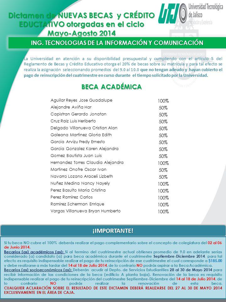 ING. TECNOLOGIAS DE LA INFORMACIÓN Y COMUNICACIÓN