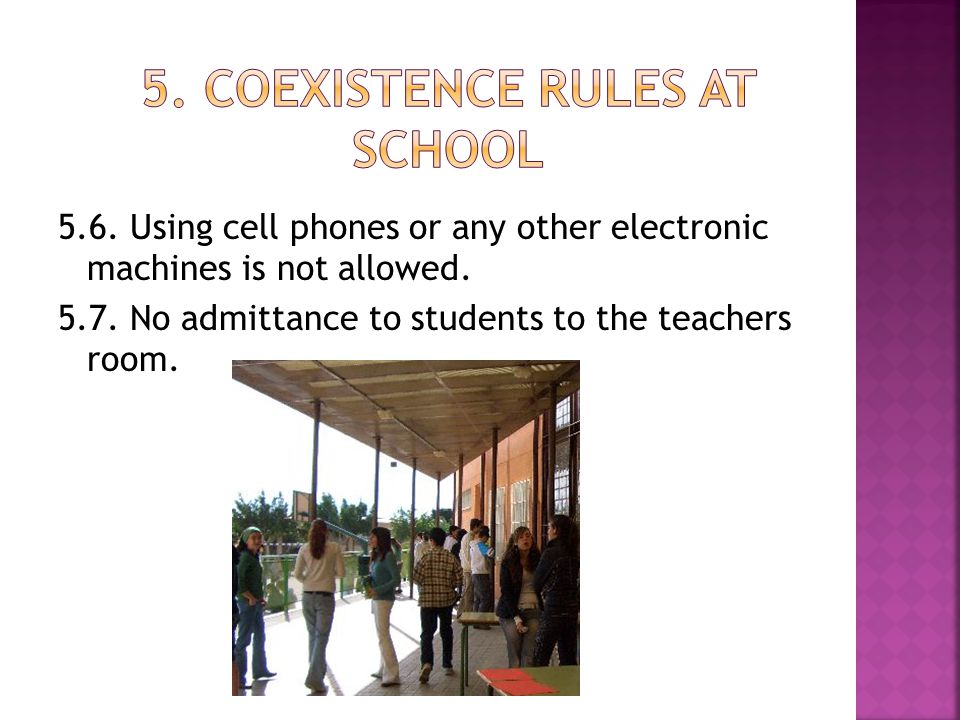 5. COEXISTENCE RULES AT SCHOOL
