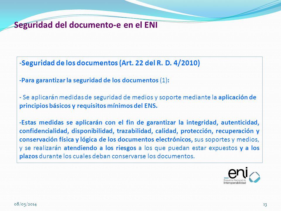 Seguridad del documento-e en el ENI