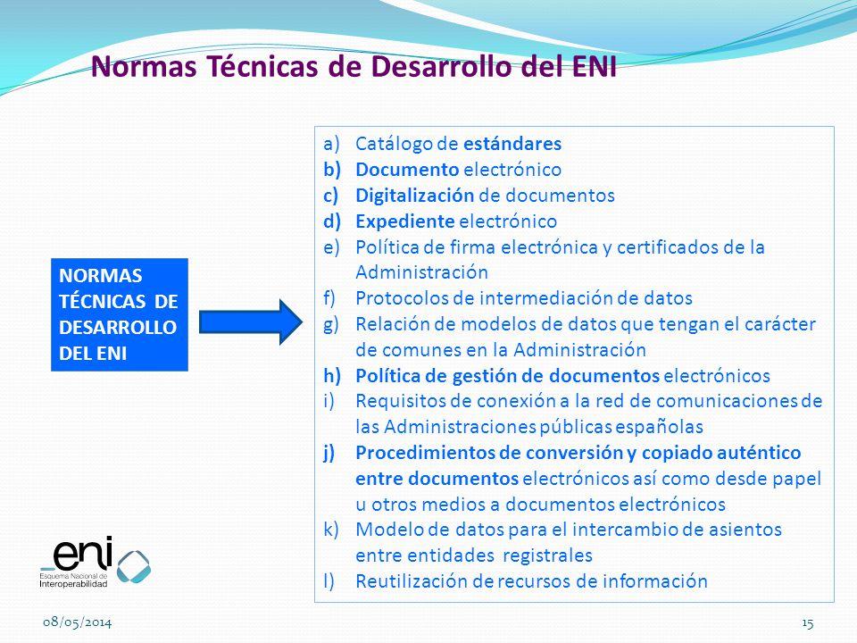 Normas Técnicas de Desarrollo del ENI