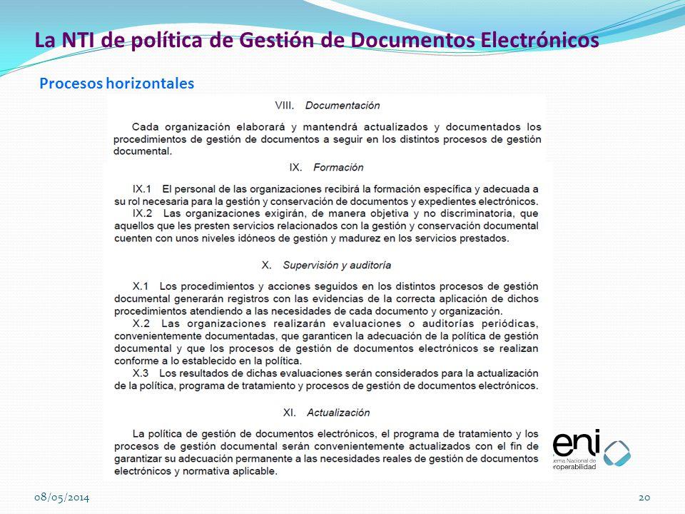 La NTI de política de Gestión de Documentos Electrónicos