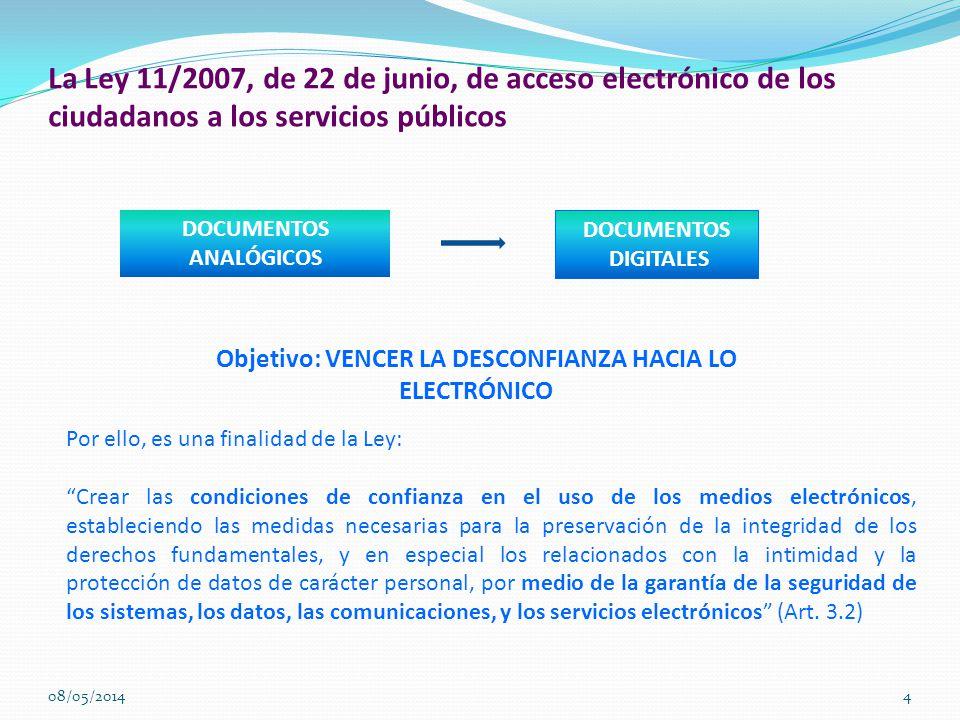 La Ley 11/2007, de 22 de junio, de acceso electrónico de los ciudadanos a los servicios públicos