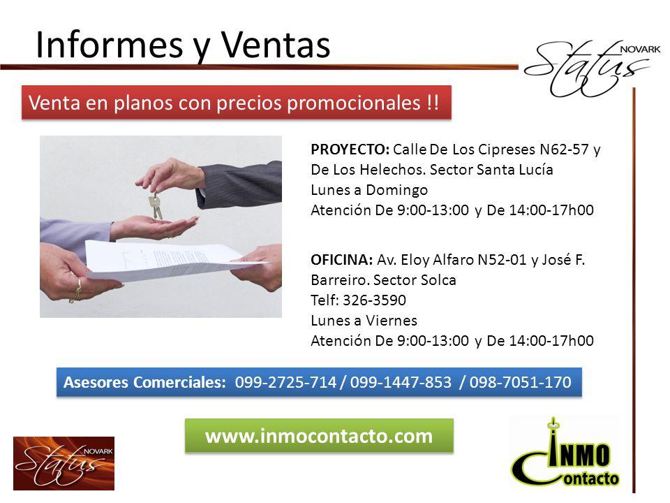 Informes y Ventas Venta en planos con precios promocionales !!