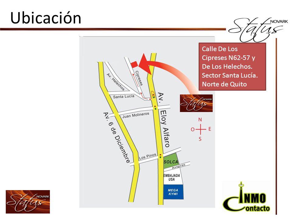 Ubicación Calle De Los Cipreses N62-57 y De Los Helechos. Sector Santa Lucía. Norte de Quito