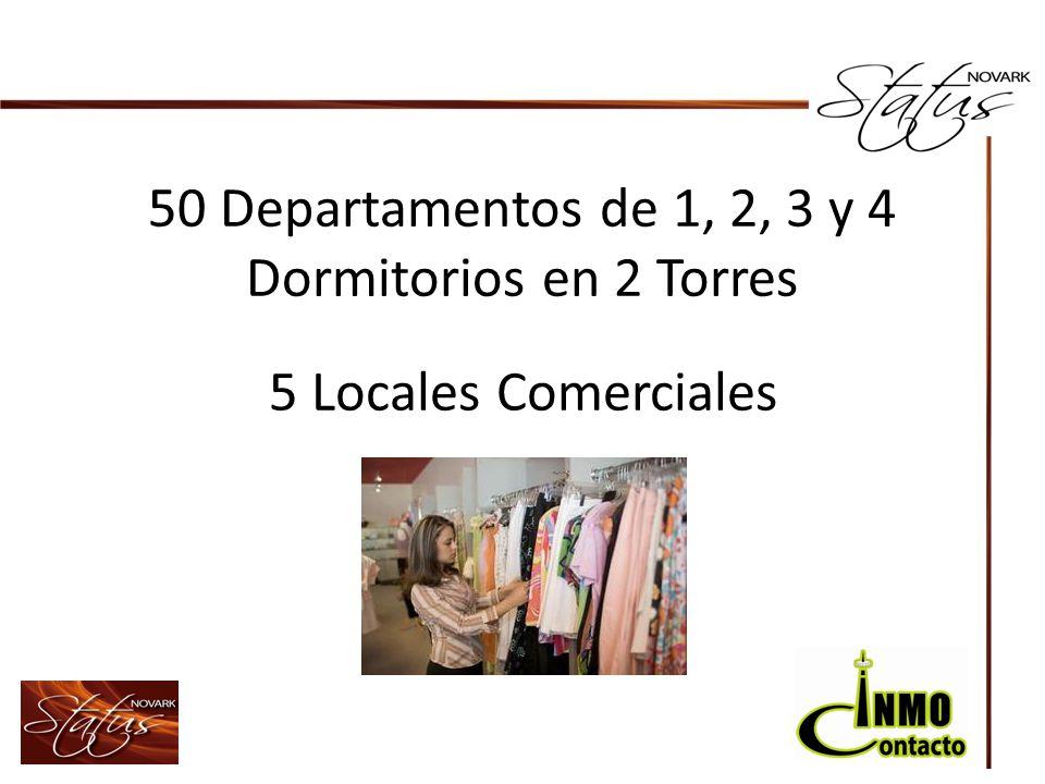 50 Departamentos de 1, 2, 3 y 4 Dormitorios en 2 Torres