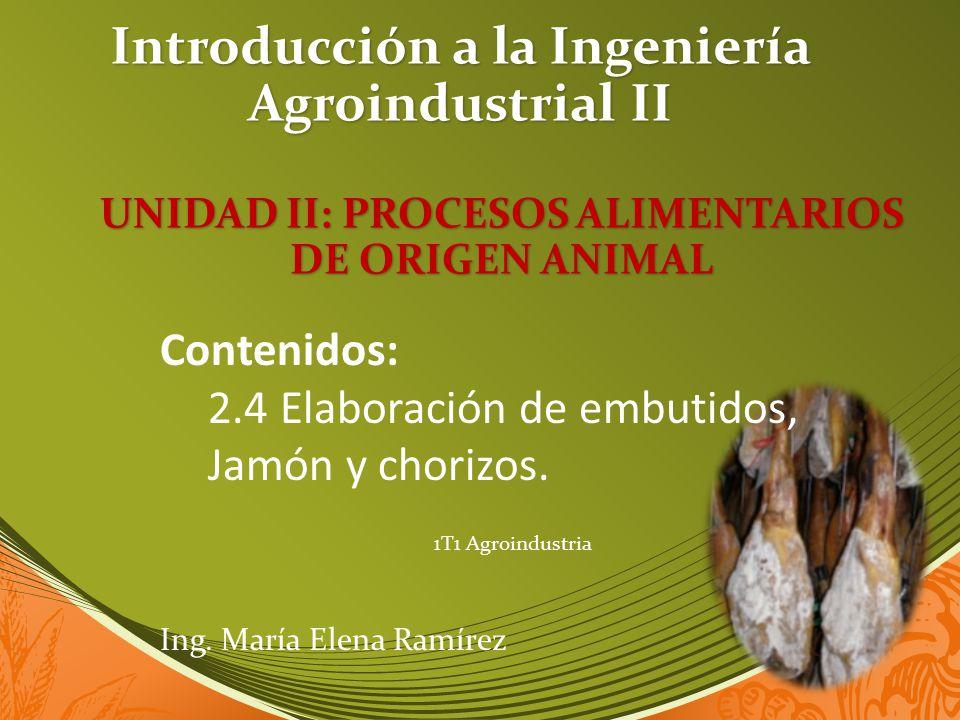 Introducción a la Ingeniería Agroindustrial II