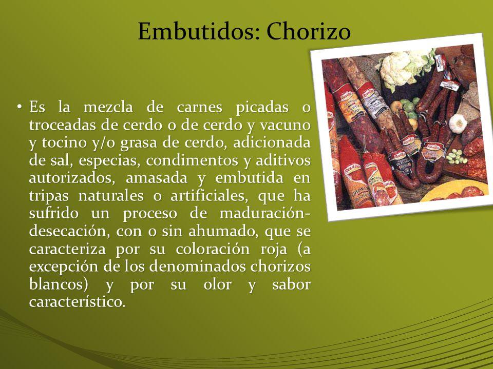 Embutidos: Chorizo