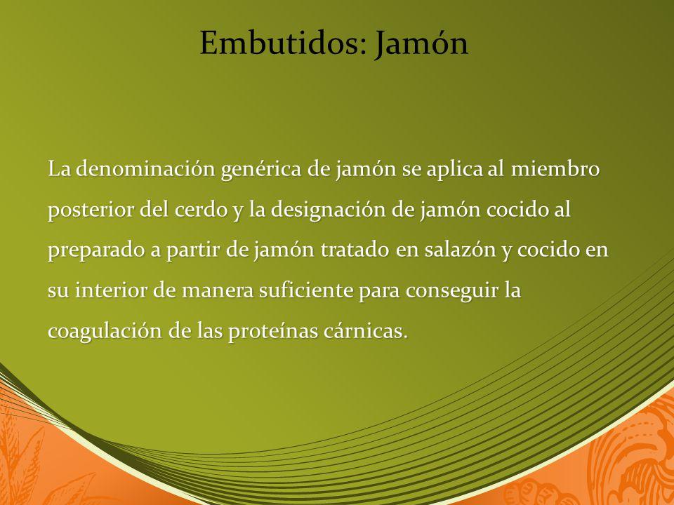 Embutidos: Jamón
