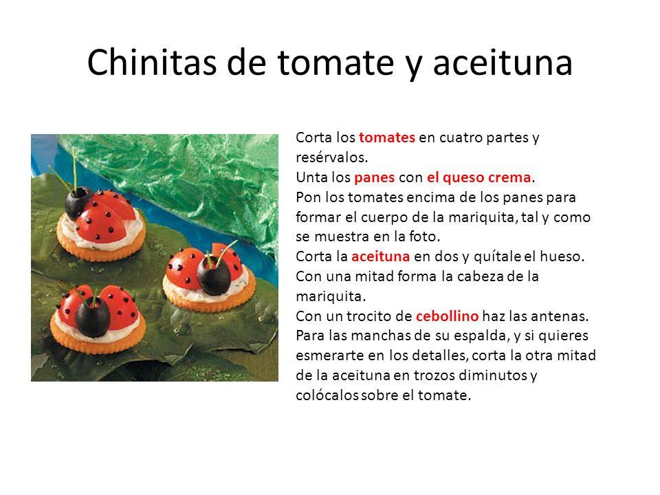 Chinitas de tomate y aceituna